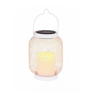 Globo LED solaire lampe suspendue stand lanterne blanc jardin décoration grille table projecteur éclairage extérieur effet de feu 33542