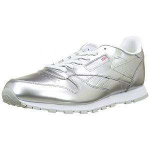 Reebok Classic Leather Metallic, Chaussures de Running Fille, Argenté (Silver/White 000), 35 EU