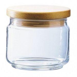 Luminarc 1121607 Box Mania Pot avec Couvercle de Contenance Bois/Verre Transparent 11 x 11 x 16 cm