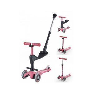 Micro Trottinette Mini 3 en 1 Deluxe Plus Rose Multicolore Mobility