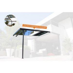 Couleurs du monde Extension pour pergola aluminium gris anthracite 7 m²