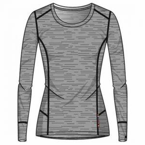 Odlo Suw Natural T-shirt manches longues à col ras-du-cou Femme, grey melange-grey melange M Maillots de corps