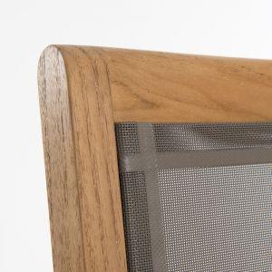 Macabane Lot de 2 fauteuils empilables textilène couleur taupe