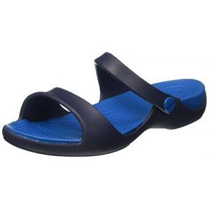 Crocs Cleo V Sandal Women, Femme Sandales, Bleu (Navy/Ultramarine), 34-35 EU