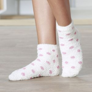 DAMART Chaussettes chaussons Thermolactyl Ecru/Pois - Taille 36/38;39/41
