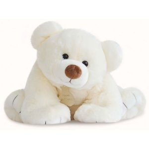 Histoire d'ours Peluche 65 cm Gros ours écru