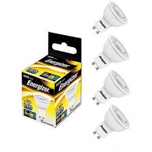Energizer 4 x GU10 Ampoule LED 250LM Spot 3,6 W = 35 W équivalent blanc chaud 3000 K 36 °