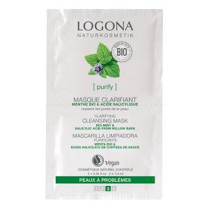 Logona Masque nettoyant clarifiant menthe acide salicylique