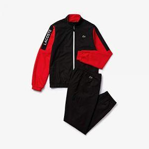 Lacoste Sport WH4857 Ensemble de Sport, Corrida-Noir-Blanc Q47, Medium (Taille Fabricant:4) Homme