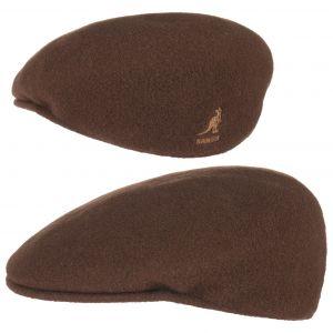 Kangol Bonnet Wool 504 - Mixte - Marron (Tabac) - Large