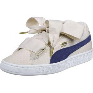 Puma Basket Heart Denim W Lo Sneaker chaussures beige beige 38,0 EU