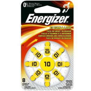 Energizer EZ Turn & Lock 10 - Distributeur de 8 Piles auditives - 634923