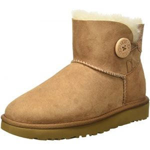 UGG australia UGG Mini Bailey Button, Bottes Courtes Femme, Marron (Chestnut), 40 EU