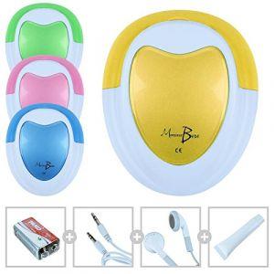 Monsieur Bébé Doppler Foetal + gel + pile + écouteur + câble audio pour PC