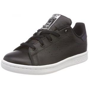 Adidas Stan Smith C, Chaussures de Fitness Mixte Enfant, Noir (Negbás/Negbás/Plamet 000), 29 EU