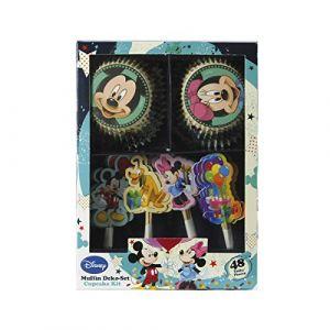 Dekoback Kit de décoration pour cupcakes Mickey Mouse 48 pièces
