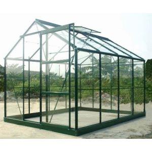 Chalet et Jardin Serre de jardin 86 en verre trempé 4 mm 4,65 m2 avec base d'ancrage