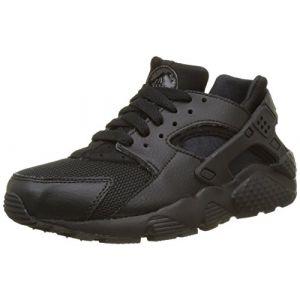 Nike Huarache Run (GS), Chaussures de Running Mixte Enfant, Noir (Black/Black-Black), 36 EU