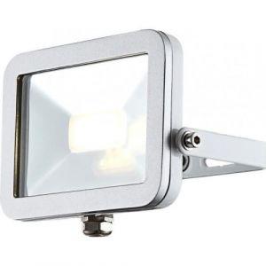 Globo Lighting Projecteur extérieur aluminium fonte gris métallisé blanc - Verre translucide - Luminaire extérieur - Ampoule LED incluse- Aluminium - 20W 230V - Fonte gris