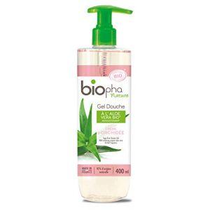 Biopha Gel douche à l'aloe vera bio parfum crème d'orchidée