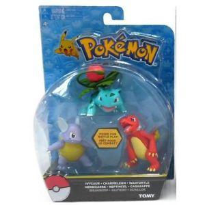 Tomy Pack 3 figurines de combat Pokémon
