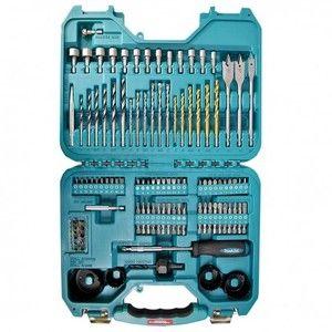 Makita Perceuse P-90249 Coffret 100 pièces : accessoires embouts, forets et mèches.