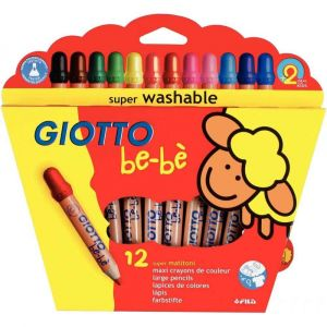 Giotto Crayon maxi Bébé - Etui de 12