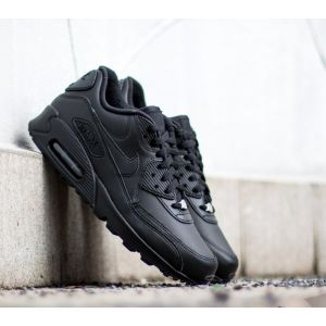 Nike Chaussure Air Max 90 Leather pour Homme - Noir - Taille 42.5 - Male