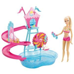 Mattel Parc aquatique pour chiots Barbie