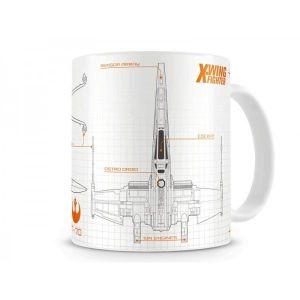 SD Toys Mug Star Wars Episode 7 Blueprint X-Wing