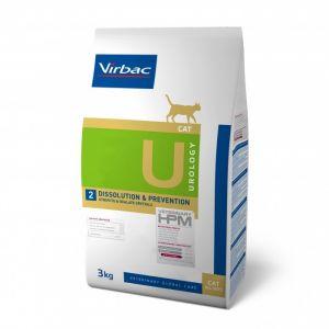 Virbac Vet HPM Diet Chat - U2 Urology Dissolution et Prevention 3 Kg