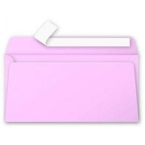 Pollen 5535C - Enveloppe 110x220, 120 g/m², coloris rose dragée, en paquet cellophané de 20