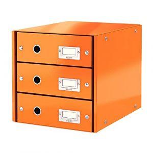 Leitz Bloc de classement à tiroirs Click & Store Orange