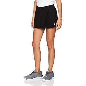 Wilson Femme Jupe de Tennis, W Team 12.5 Skirt, Polyester/Spandex, Noir, Taille XS, WRA766202