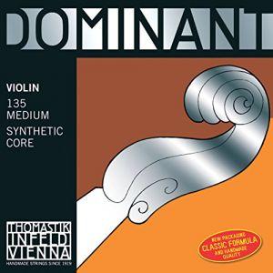 Thomastik Dominant Strings 130 3/4 Cordes Violon Dominant Noyau plein nylon Taille 3/4