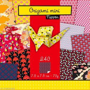 Avenue mandarine 42690O - Pochette Origami Mini, Nippon, 7,5 x 7,5 cm, 240 feuilles 70 g/m²