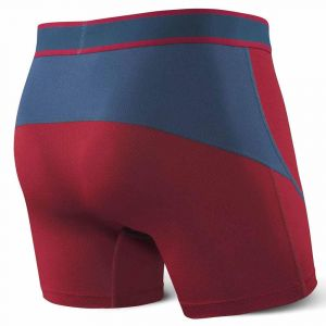 Saxx Underwear Vêtements intérieurs Kinetic Boxer - Deep Red/Blue - Taille XXL