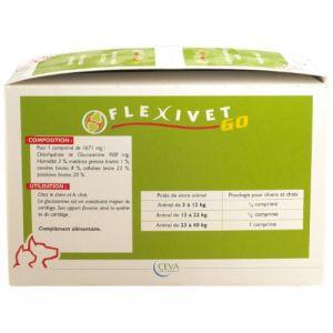Flexivet Médicament Go 30 x 8 capsules  pour soutien de la synthèse du cartilage articulaire.