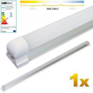 Ledvero 1x SMD réglettes lumineuses LED en blanc neutral T8 G13 tube couvercle laiteux - 120 cm, 18 W, 1800lumen- prêt pour l'installation