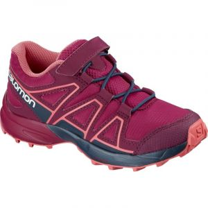 Salomon Speedcross Bungee K, Chaussures de Course sur Sentier Mixte Enfant, Rouge Cerise/Navy Blazer/Dubarry, 26 EU