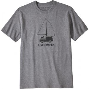 Patagonia M's Live Simply Wind Powered Responsibili-Tee T- T-Shirt Homme, Gris chiné