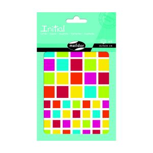Maildor Gommettes colorées carrés Initial