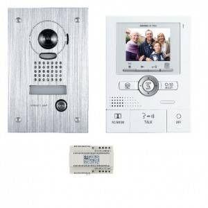 Aiphone JKS1AEDF - Kit video couleur avec mémoire et zoom encastre antivandale