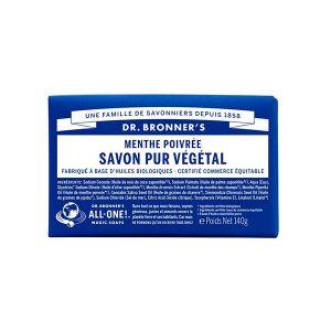 Dr bronner's Pain de savon menthe poivrée 140 g