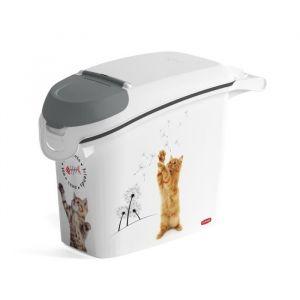 Curver Conteneur à croquettes empilable Love pets 6 Kg - Blanc - Pour chat