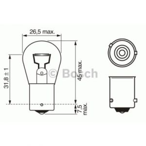 Bosch Lampes 1987302213 LPE PY21W PURE LIGHT 12V x10
