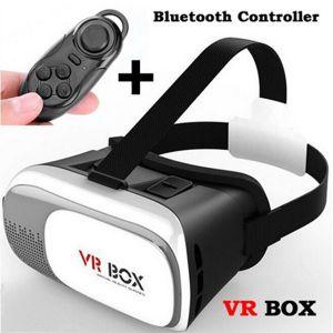 VR Box Réalité Virtuelle Lunettes 3D VR avec Télécommande Bluetooth
