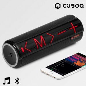 CuboQ Cylinder - Enceinte Bluetooth avec Support