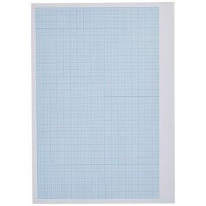 Clairefontaine 97528C - Pochette de 6 feuilles de papier millimétré + 6 feuilles de calque, 70 g/m², A4