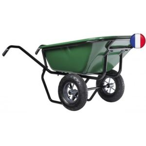 Haemmerlin 306050701 - Brouette Expert Twin peinte roues gonflées 230 L